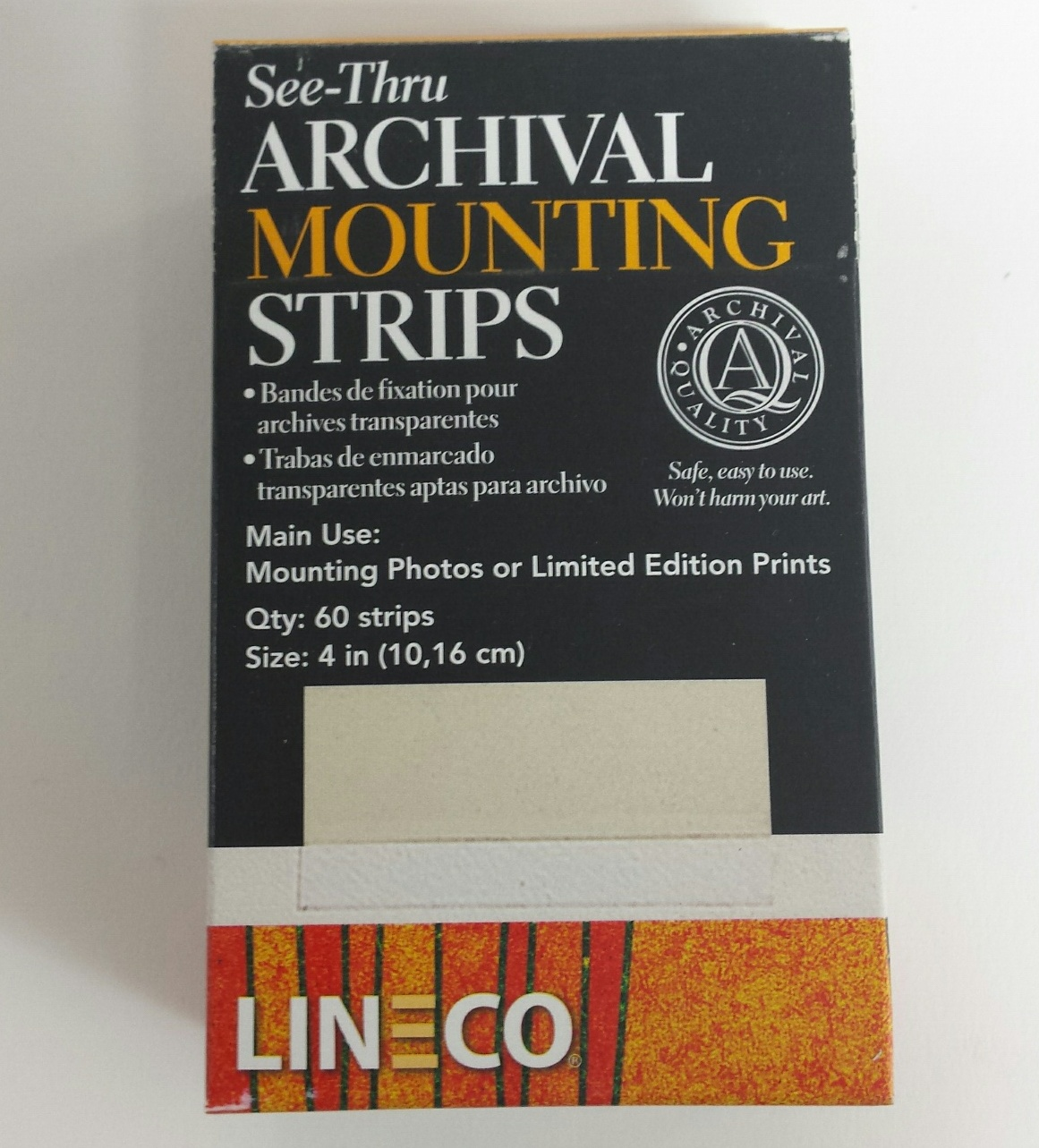 Lineco See Thru Archival Mounting Strips