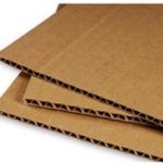 """40"""" x 60"""" corrugated sheets used for backing board"""