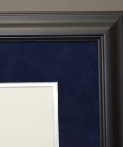 Close up of Executive Diploma Frame with Blue Suede Mat