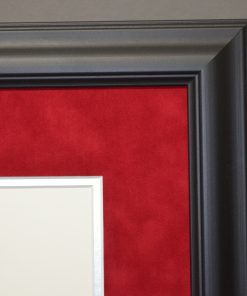 Executive Close up of Diploma Frame with Red Suede Mat
