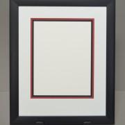 Black Frame with Black Core Triple Matting