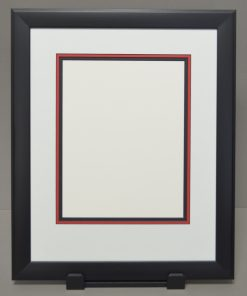 Black Frame with Black Core Triple Matting