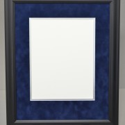 Executive Diploma Frame with Blue Suede Mat