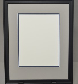 Classic Diploma Frame with Grey and Blue Mat