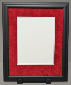 Executive Diploma Frame with Red Suede Mat