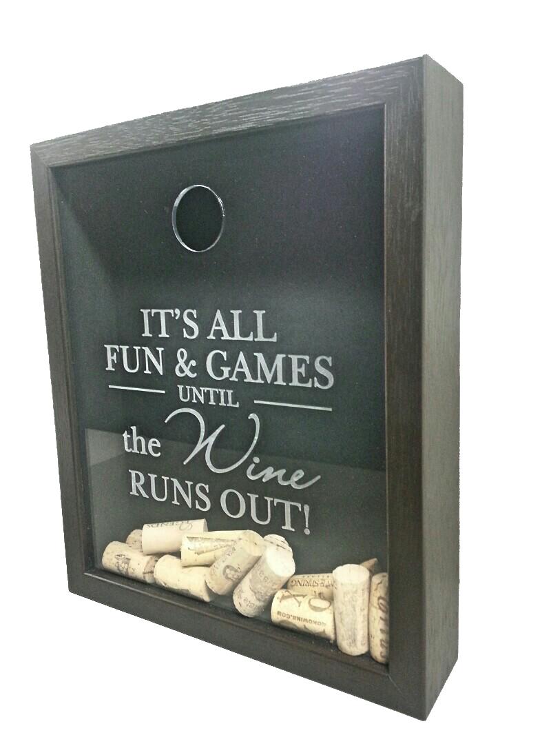 Small Wine Cork Shadowbox