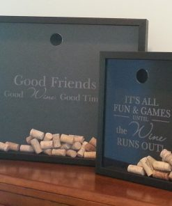 large and small wine cork shadowbox