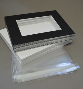 Jet Black Matboard Presentation Kits