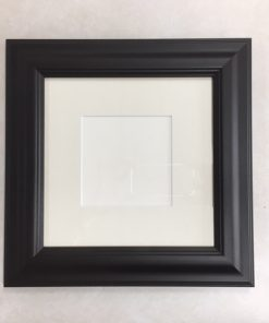 F186 Black Frame with White Mat