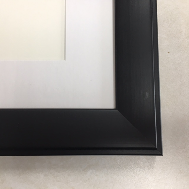 F141 Black Frame with White Mat