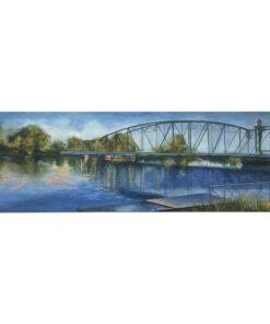 original art - Troubled Bridge over Canal Waters
